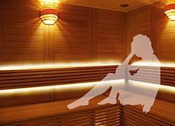 サウナ室、100℃環境で使用可能のテープライト
